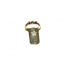 Gouden Nagel Ring Met Ster