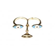 Gouden Ogen Met Mond Ring
