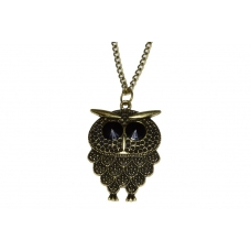 Gouden Oude Uil Ketting