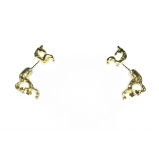 Gouden Paarden Oorbellen
