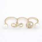 Gouden Peace & 'Oneindige' Ring