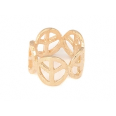 Gouden Peace Tekens Ring