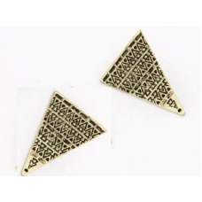 Gouden Pyramide Oorbellen