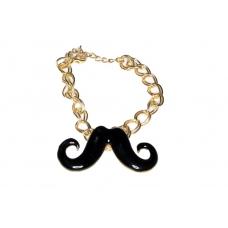 Gouden Ringen Armband Met Snor