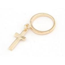 Gouden Ring Met Kruisje