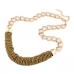 Gouden Ronde Band Steentjes Halsketting