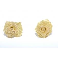 Gouden Roosjes Oorbellen