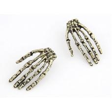 Gouden Skelet Handen Oorbellen