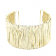 Gouden Staal Draden Armband