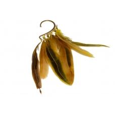 Gouden Veren Ear Cuff