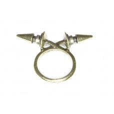 Gouden Verwoven Spikes Ring