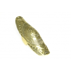 Gouden Armor Ring Met Print