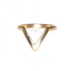 Gouden 'V' Ring