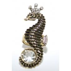 Gouden Zeepaard Ring