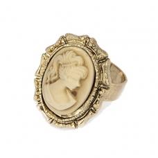 Goud Met Beige Zegel Ring