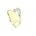 Goud Met Gele Vlinder Ring