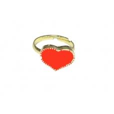 Goud Met Rode Hart Ring