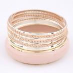 Goud Met Roze Armbanden Set