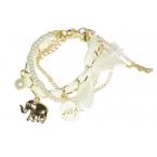 Witte Armband Met Gouden Bedeltjes
