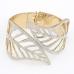 Goud Met Zilveren Bladeren Armband