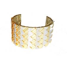 Goud Met Zilveren Schubben Armband