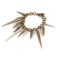 Goud Met Zilveren Spikes Armband