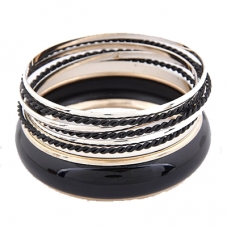 Goud Met Zwarte Armbanden Set
