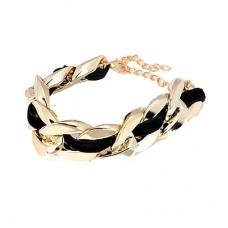 Goud Met Zwarte Luxe Chain Armband