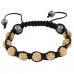 Goud Met Zwarte Shamballa Armband