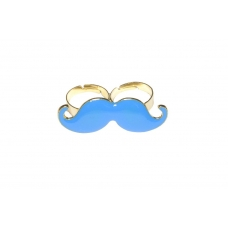 Grote Blauwe Snor Ring