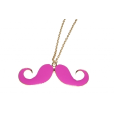 Grote Donker Roze Snor Ketting
