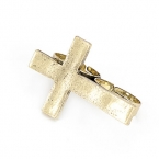 Grote Gouden Kruis Ring