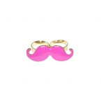 Grote Roze Snor Ring