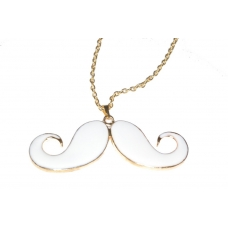 Grote Witte Snor Ketting