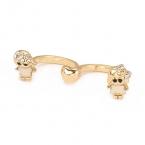 Gouden Jongen & Meisje Ring