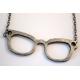 Zilveren Brillen Ketting