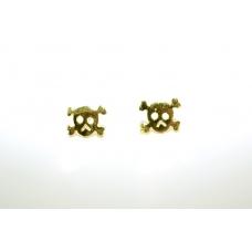 Kleine Gouden Doodskop Oorbellen