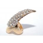 Kleine Gouden Kristal Nagel Ring