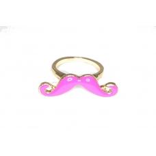 Kleine Roze Snor Ring