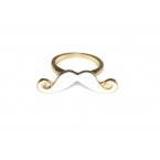Kleine Witte Snor Ring