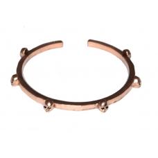 Koperen Doodskop Armband