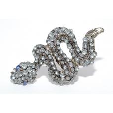 Kristallen Slang Ring