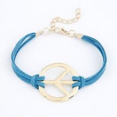 Blauwe Peace Teken Armband
