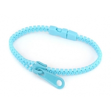 Licht Blauwe Rits Armband