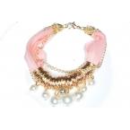 Licht Roze Armband Met Parels