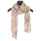 Licht Roze Sjaal Met Figuren