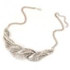 Luxe Zilveren Bladeren Ketting