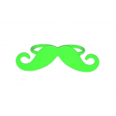 Neon Groene Snor Ring