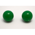Groene Knop Oorbel