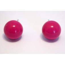 Roze/Paarse Knop Oorbel